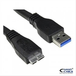 CABLE USB 3.0 AM-MICRO BM 1M NEGRO NANOCABLE