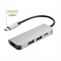 CELLY USB-C A (2)USB 3.0. HDMI Y USB-C METAL·