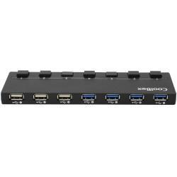 HUB 7 PUERTOS USB 3.02.0 COOLBOX + MULTICARGADOR DE PARED