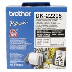 BROTHER LABEL ROLLWHITE 62MMX30.48M F QL-SE·