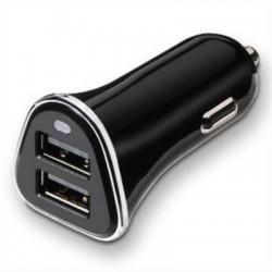 CARGADOR DE COCHE USB TOOQ TQCC-2002 2XUSB 3.4A CON CONTROL AI NEGRO